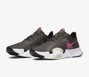 Nike SUPERREP GO UK 9 EU 44 Training Shoe Grey Gym Crossfit CJ9773 063