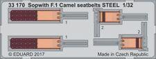 EDUARD 1/32 SOPWITH F.1 Camel CINTURE SEDILI ACCIAIO #33170