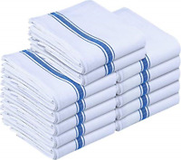 Utopia Towels Kitchen Towels 12 Pack, 15 x 25 Inches Cotton Dish Towels, Tea and