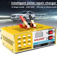 220W 12/24V 200ah Full Automatic Intelligent Car Battery Charger Pulse Repair EU