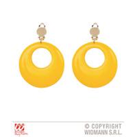 Chunky Hoop Earrings Neon Yellow