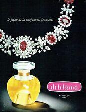 Publicité Advertising 067  1965   le parfum femme Revillon  Detchema