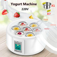 1.5L Full Automatic Home Yoghurt Maker Rice Wine Machine With 7 Glass Jars