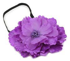 Zest Headband with Large Flower Hair Accessory Black & Purple