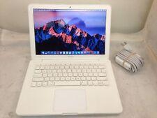 """UPGRADED Apple MacBook 13.3"""" 2.4GHz 4GB RAM 250GB HDD A1342 Sierra See Descrip."""