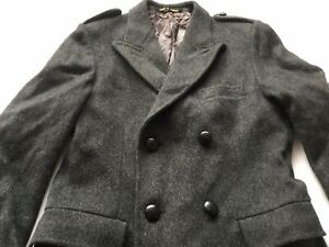 Adult Men's Genuine Vintage 100% Merino Wool Coat Jacket Top SIZE Large Vgc