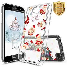For LG Fiesta 2 /Fiesta LTE Liquid Glitter Bling TPU Case Cover + Tempered Glass