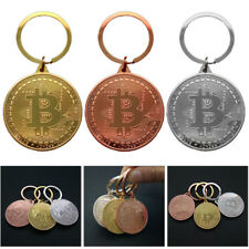 BTC Coin Key Ring Commemorative Coins Keyring Gift Key Chain Bit BTC 3 Farben