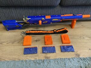 Nerf N-Strike Longstrike CS-6 Sniper Blaster Gun 4 Mags 48 Darts Ammo & Strap