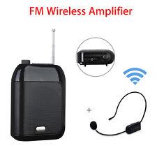 Voice Amplifier 15W Loudspeaker TF/U Disk Read+FM Mic Transmitter Black Handheld