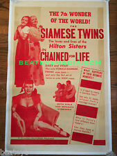 CHAINED FOR LIFE-MOVIE POSTER-SIDESHOW-CIRCUS-FREAKS-FILM-HORROR-GORE-chaney