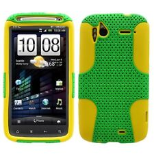 HTC SENSATION 4G T-MOBILE SPORTY HYBRID 2-TONE CASE GREEN/YELLOW