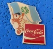 1988 Coca Cola Ltd Edition Flag Pin - Guatemala