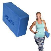 Azure Yoga Block Foam Pilates Brick Gym Stretch Exercise Aid with Bevelled Edges
