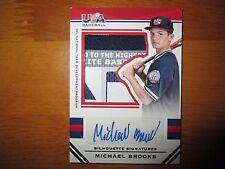 MICHAEL BROOKS 2017 Panini Stars & Stripes USA PATCH Autograph #7/25 Laundry Tag