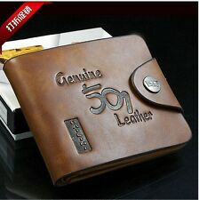 Luxury High Quality Mens Brown Leather WalletBifold Credit Card Holder Gift
