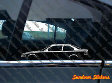 2x car silhouette stickers - For BMW E36 M3