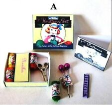 BOXED KNITTING SET DOLLS HOUSE MINIATURES