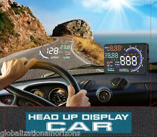 "A8 5.5"" Car HUD Head Up Display OBD2 OBDII Fuel Consumption Speed Warning System"