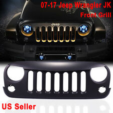 Matte Black Angry Bird Front Hood Grill Grille Grid 07-17 Jeep Wrangler JK P7