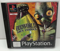 ODDWORLD ABE'S EXODDUS PLAYSTATION 1 PS1 PS 2 TESTED FULLY WORKING