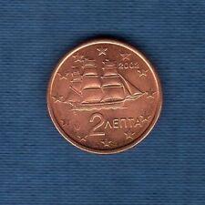 Gréce - 2002 -  2 centimes d'euro - Pièce neuve de rouleau -