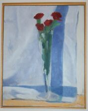 David K. Gordon Listed New York City NY USA Original Still Life Painting Roses