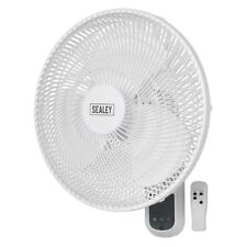 """Sealey SWF16WR Wall Cool Fan 3-Speed 16"""" Oscillating with Remote Control 230V"""