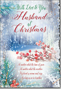 With Love To You Husband At Christmas Time Card Lovely Verse CH9011