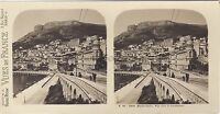Monaco Vista Verso La Condamine Stereo Vintage Analogica Ca 1910