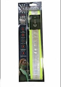 Illumiseen Hi-Viz LED Belt 2.0 Safe and Seen USB Rechargeable 8 colors Size L