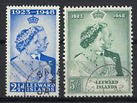 Leeward Islands 1948 Silver Wedding Set of 2 Stamps SG117/18 Fine Used 16-15