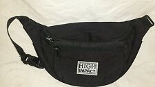 High Impact Women's Fanny Pack waist Black Nylon Purse handbag Bag