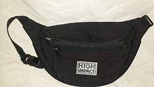 High Impact Women's Fanny Pack waist Black Nylon Purse handbag Bag