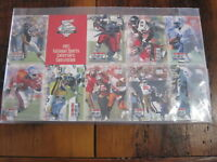 1993 Pro Set Power Football Collector Convention Uncut Sheet Cards Emmit Smith