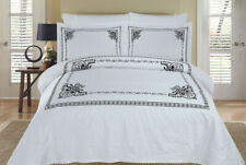 4PC OR 8PC Silky Soft and Smooth Athena Embroidered 100% Cotton Bedding Sets