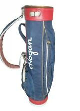 Vintage Ben Hogan Amf Leather Stand Up Carry Golf Bag Red White Blue Usa