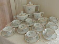 Vintage Richard Ginori NC Porcelain 25-Piece Demitasse Coffee Service for 10