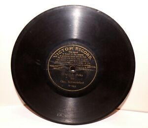 """RARE Antique 7"""" 1st VICTOR RECORD A-233 Phonograph Gramophone 1901"""