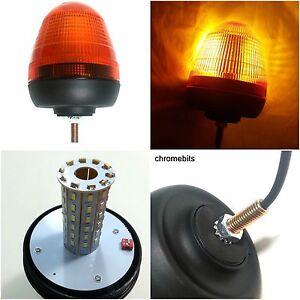 12V/24V Einzel 1 Bolzen Punkt Halterung LED Blink Bernstein Orange Warn Licht