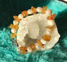 pulsera minerales naturales ámbar