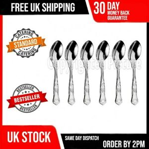6 KINGS PATTERN TEA SPOONS SET OF SIX QUALITY DESIGN CATERING GRADE CUTLERY 01A