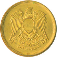 1973 / 10 PIASTRES - EGYPT / EAGLE WITH SHIELD / UNC FULL LUSTRE #WT5014