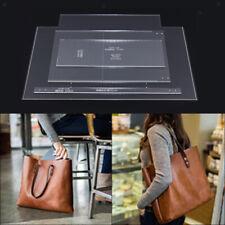 4pcs Handmade Tote Bag Handbag Pattern Leather Craft Clear Acrylic Templates