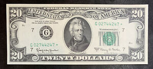 1963 A $20 Chicago Star Note Uncirculated