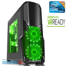 INTEL KABYLAKE i7 7700K GTX 1070 8GB 16GB SSD Computer PC da gioco VR PRONTA