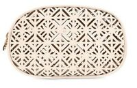Tory Burch Laser cut Oval cosmetics bag, In Box, NEW in Tory Burch box, SEALED