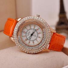 Ladies Luxury Diamond Rhinestone Watch Women Casual Leather Quartz Wristwatch