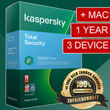 Kaspersky Total Security 2021-2022  VOLL 3 Device/PC 1Year/Jahr EU EXPRESS