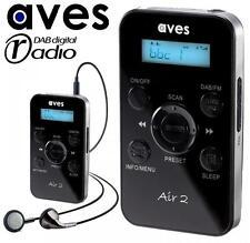 AVES Air 2 Tasca Portatile Fm & Dab + Radio Portatile Digitale con auricolari